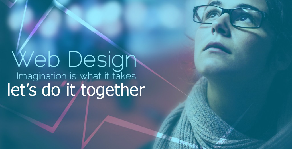 picture of web design, imagination is what it takes, lets do it together