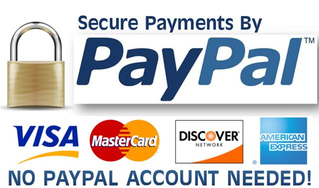 picture of we accept credit cards through paypal logo